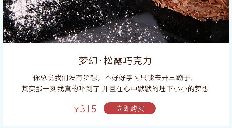梦幻 松露巧克力蛋糕 在线订购