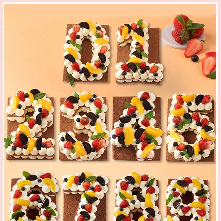 数字水果蛋糕 ebeecake 小蜜蜂蛋糕