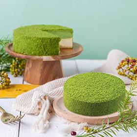 抹茶双层芝士蛋糕