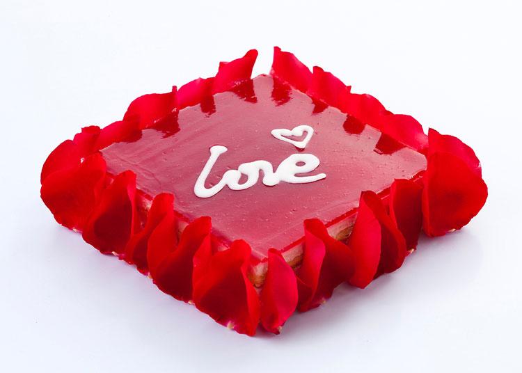 热恋|玫瑰慕斯蛋糕