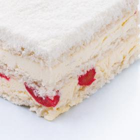 向往|酸樱桃椰蓉蛋糕